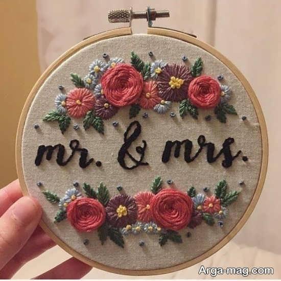 انواع طرح های عاشقانه برای گلدوزی