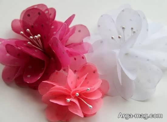 مدل گلسازی با پارچه