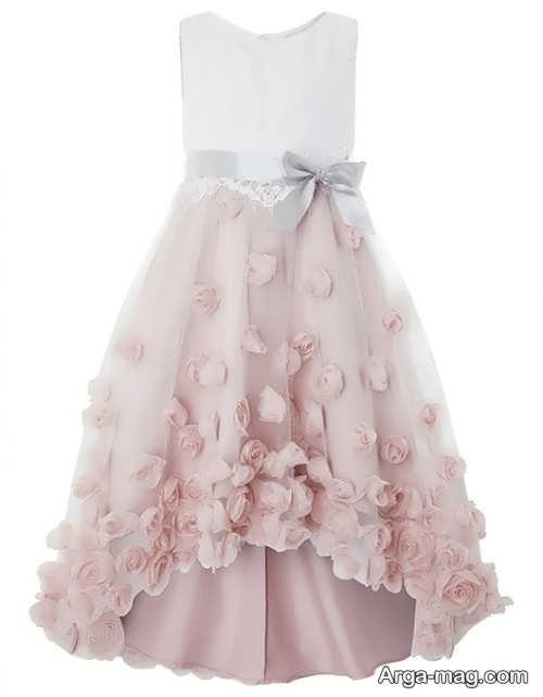 لباس مجلسی طرح دار و شیک دخترانه