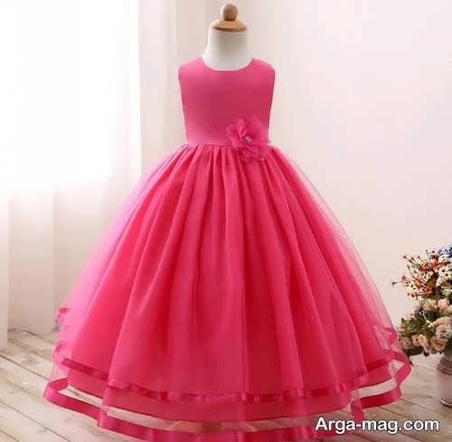 لباس مجلسی صورتی دخترانه