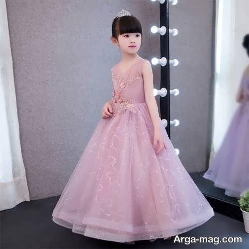 لباس مجلسی رنگ روشن دخترانه