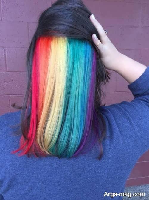 رنگ مو زنانه جدید رنگین کمانی