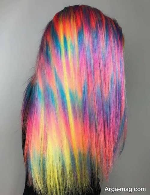 رنگ مو زیبا و شیک فانتزی