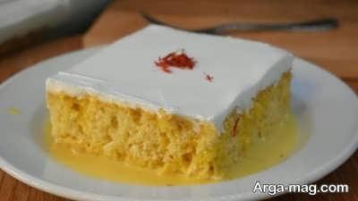 روش پخت کیک خیس زعفرانی
