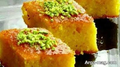 دستور تهیه کیک خیس زعفرانی