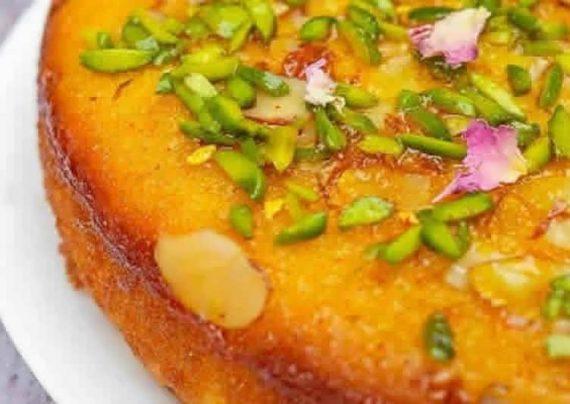 طرز تهیه کیک خیس زعفرانی