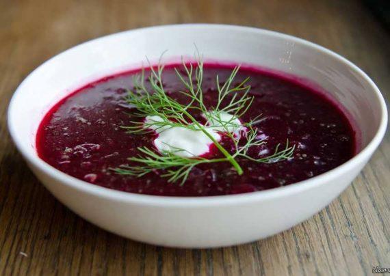 طرز تهیه سوپ چغندر