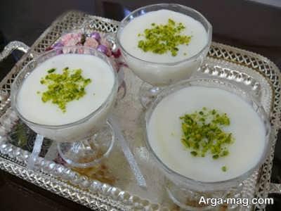 دستور تهیه فرنی با آرد برنج