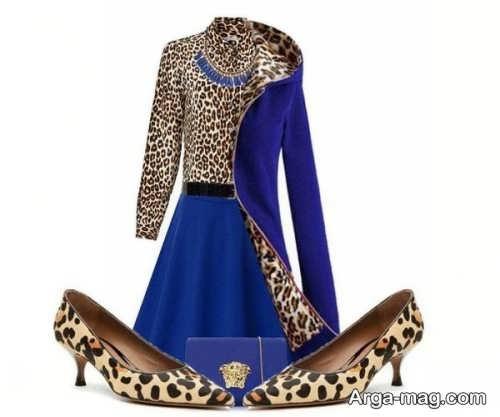 ست لباس پلنگی و آبی