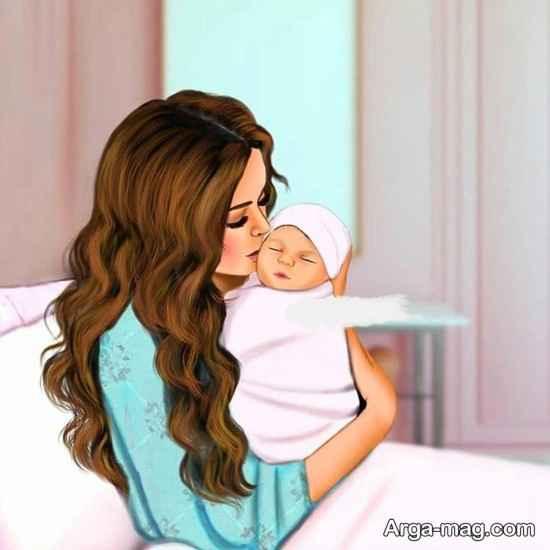 عکس مادر و دختر