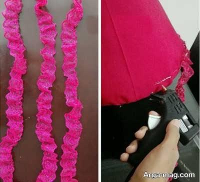 مراحل ساختن لباس عروسک باربی