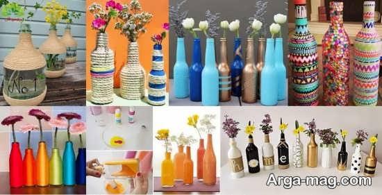 ساخت جالب گلدان با بطری