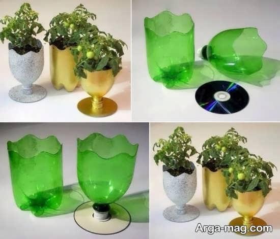 ساخت گلدان متفاوت با بطری