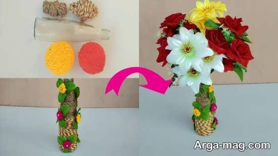 ساخت گلدان قشنگ با بطری
