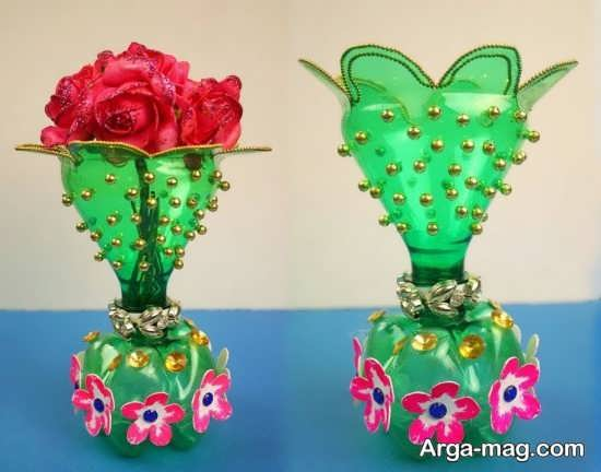 ساخت گلدان فوق العاده زیبا با بطری