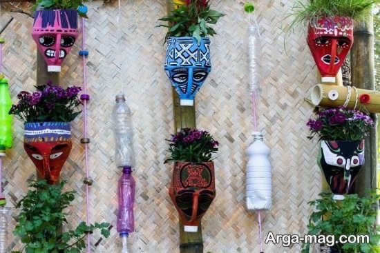 ساخت گلدان های خلاقانه با بطری