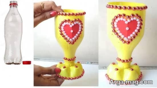 ساخت گلدان های دکوری با بطری نوشابه