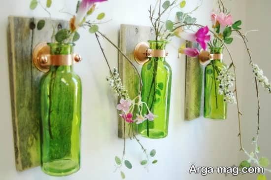 ساخت گلدان تزئینی با بطری