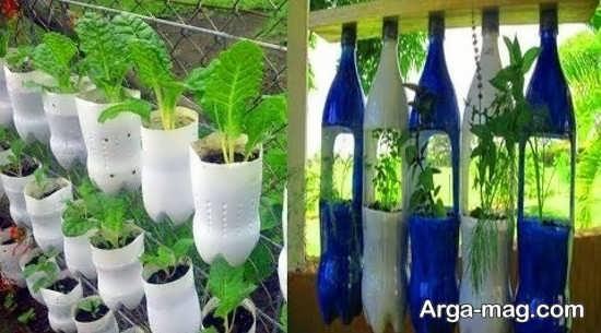 ساخت گلدان زیبا با بطری