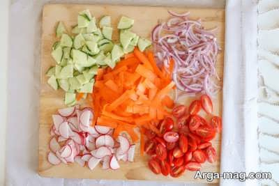 خرد کردن سبزیجات