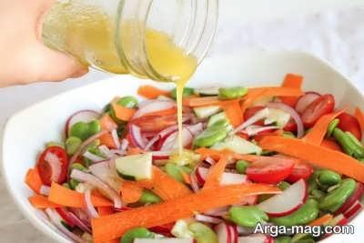 روش تهیه سالاد سبزیجات