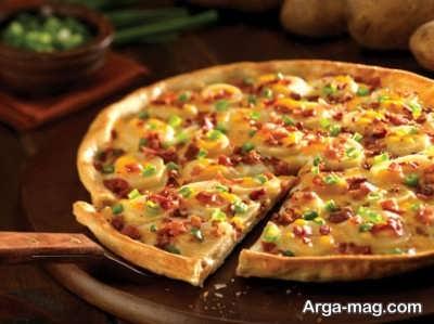 طرز تهیه پیتزا سیب زمینی