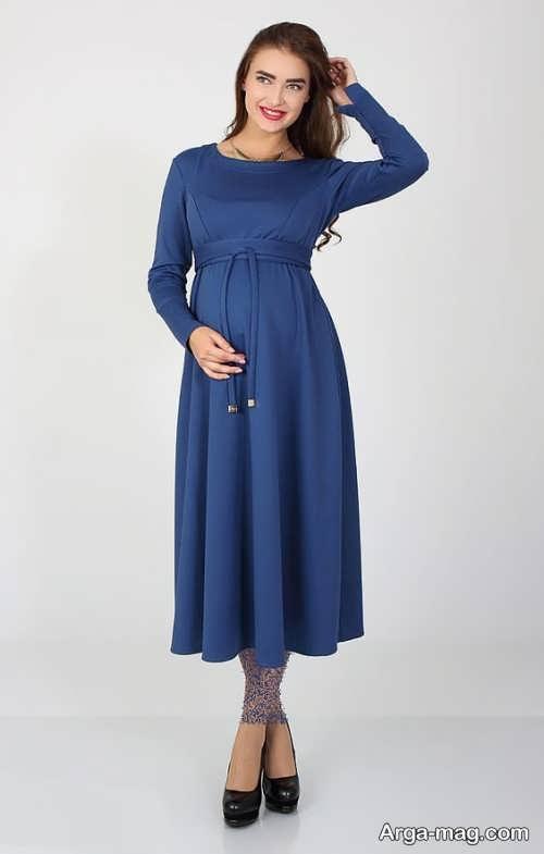 لباس مجلسی آستین دار مخصوص بارداری