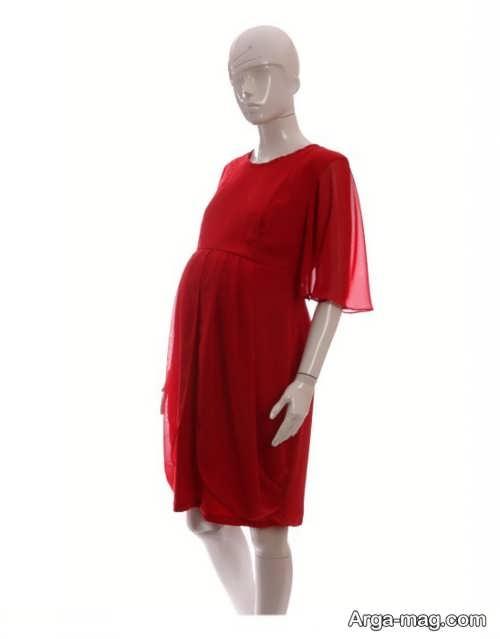 مدل پیراهن قرمز مخصوص بارداری