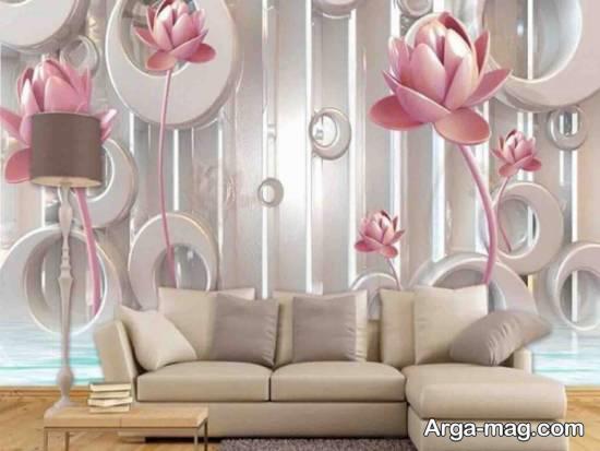 کاغذ دیواری سالن پذیرایی زیبا و جذاب