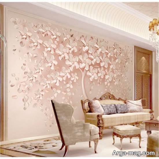 ایده های جذابی از انواع کاغذ دیواری طرح دار و ساده زیبا
