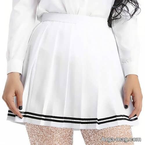 دامن سفید دخترانه