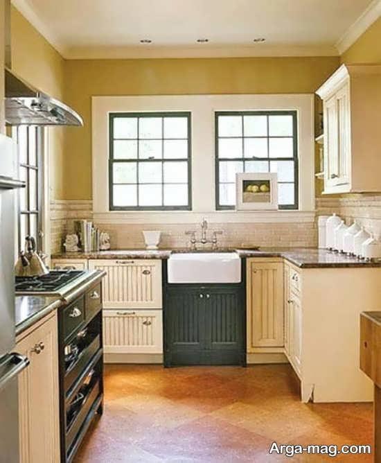 دیزاین زیبای آشپزخانه کوچک