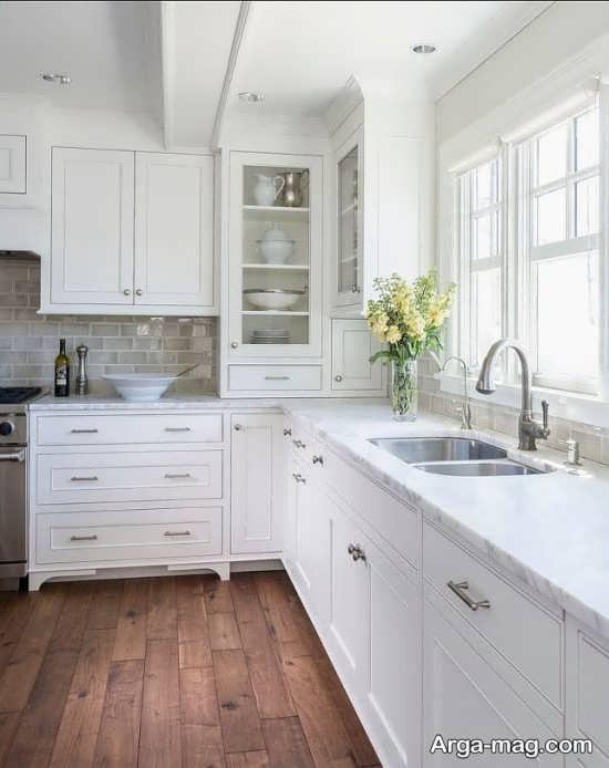 دکوراسیون سفید آشپزخانه کوچک