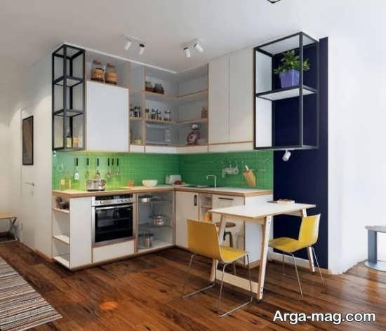 طراحی جالب آشپزخانه کوچک