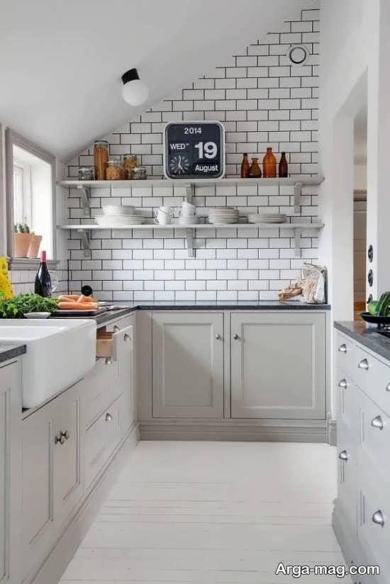 طراحی شیک آشپزخانه کوچک