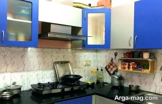 دکوراسیون زیبای آشپزخانه کوچک