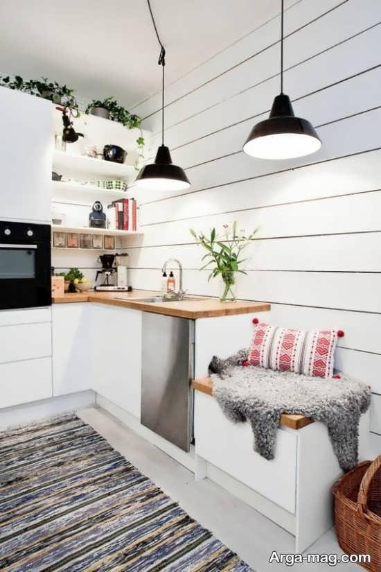 چیدمان متفاوت آشپزخانه کوچک