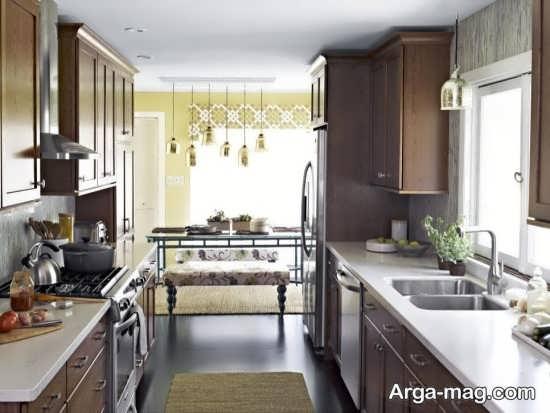 دکوراسیون جذاب آشپزخانه کوچک