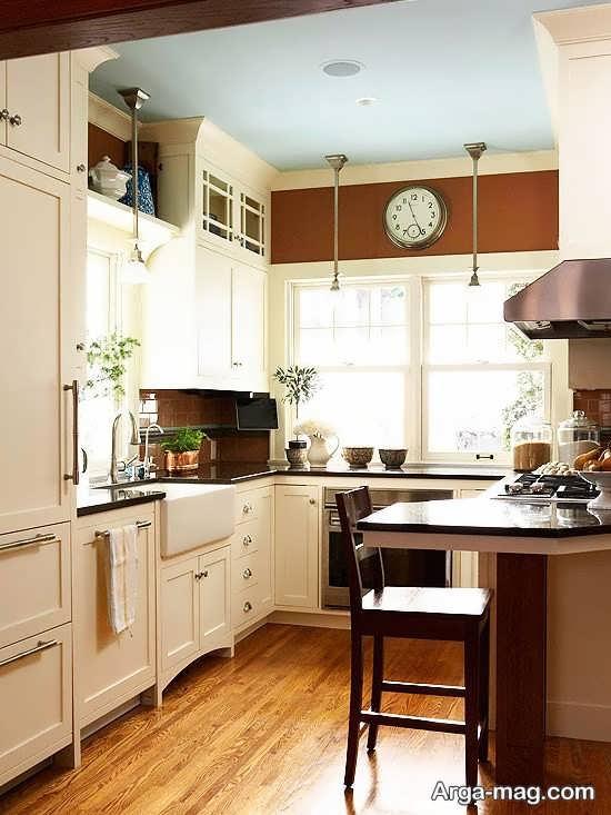 چیدمان جالب آشپزخانه کوچک