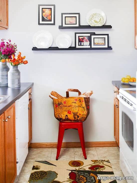چیدمان جذاب آشپزخانه کوچک