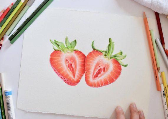 نقاشی توت فرنگی