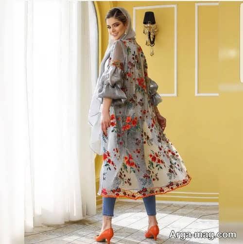 مدل مانتو گلدار تابستانه