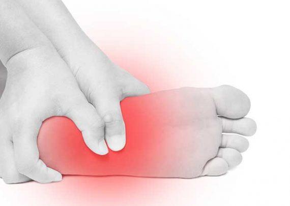 علت های مختلف درد در قسمت کف پا