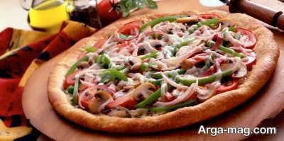 پیتزای سبزیجات خوشمزه
