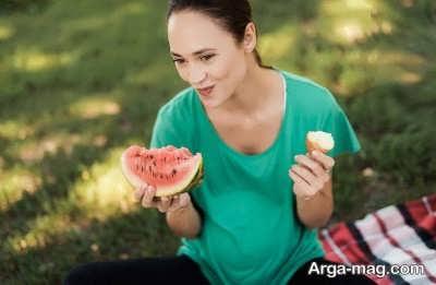 خوردن هندوانه در دوره بارداری