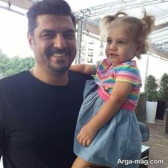 چهره دوست داشتنی سام درخشانی و دخترش