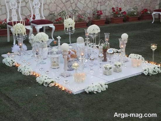 گل آرایی و تزئین سفره عقد عروس