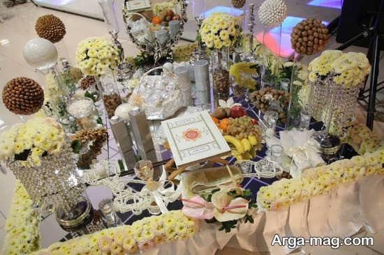 تزئین زیبای گل برای سفره عقد
