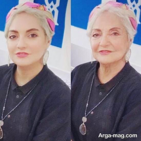 چهره مهناز افشار در دوران پیری