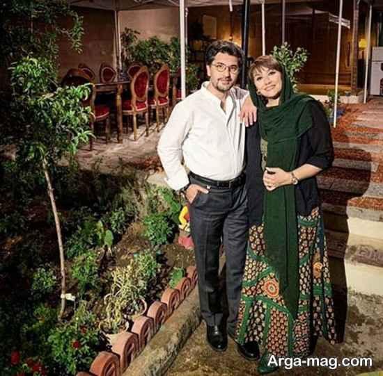 امیرحسین مدرس در کنار همسرش